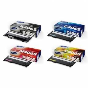 Kit de tóner 406s para Samsung c41x c46x negro y colores