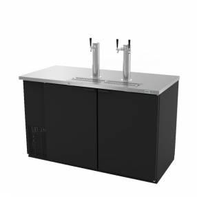 Asber dispensador refrigerado en vinil negro-2/p solidas/2-torres 220v-50/60