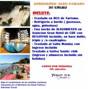 Vacaciones en Alto Parana salida 30 de Enero