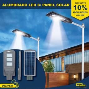 Alumbrado LED con panel solar 30W