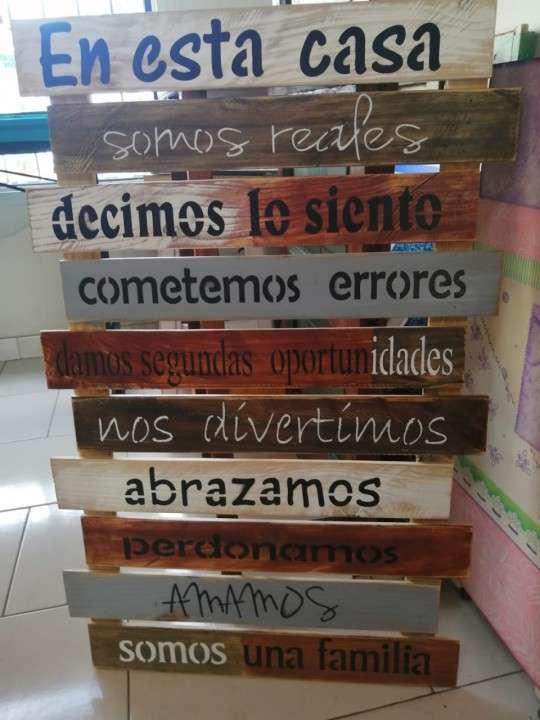 Frases en madera - 0