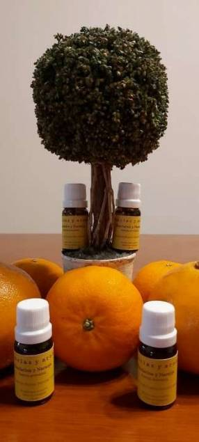 Aceite aromático de mandarina y naranja