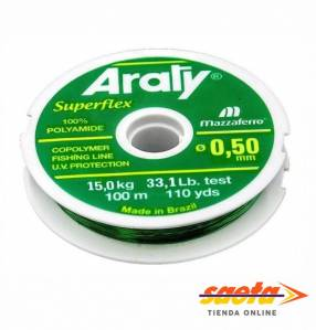 Hilo nylon 0.50mm x 100m Araty