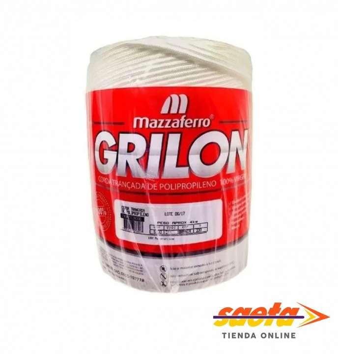 Cuerda trenzada Grilon blanca 6mm - 0