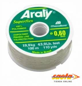 Hilo nylon 0.60mm x 100m Araty