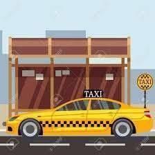 Parada de taxi en el centro de Ñemby