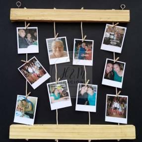 Colgante con fotos tipo polaroid