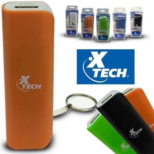 Cargador portátil 2600 Mah X Tech 217 Powerbank con llavero - 0