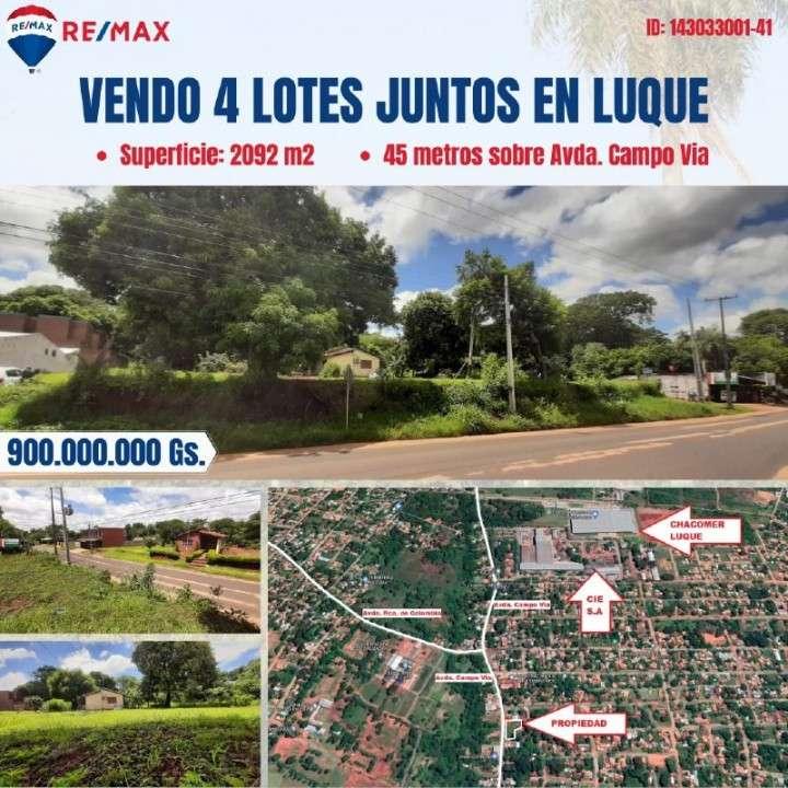 Terreno sobre Campo Vía Isla Bogado Luque - 0