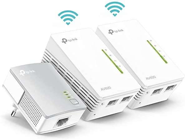 Conector de red por línea eléctrica más wifi AV-600 TL-WPA42 - 1