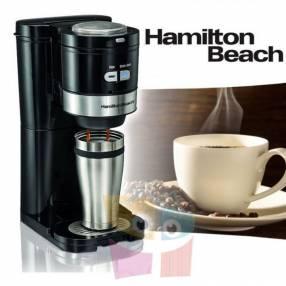 Cafetera con moledor de café Hamilton Beach Moler Colar Servir 49989