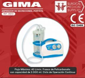 Aspirador quirúrgico 2 litros Gima 28212