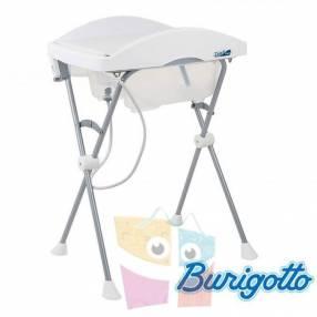 Bañera con cambiador Burigotto Tchibum blanco