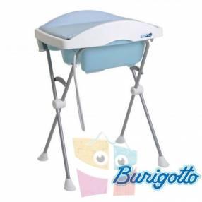 Bañera con cambiador Burigotto Tchibum baby blue