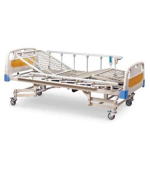 Cama hospitalaria de 5 movimientos eléctrica con colchón de base - 0