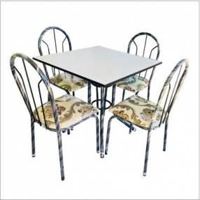 Juego de comedor 4 sillas con tapa de formica (2339)