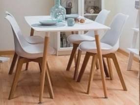 Juego de comedor Eames con sillas reforzadas (776) (3431)