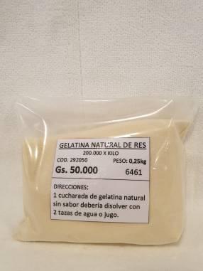 Gelatina Natural de Res 0.25kg