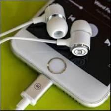 Auricular Maxell APPL-EAR lighting blanco
