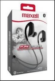 Auricular Maxell bluetooth sport hook negro