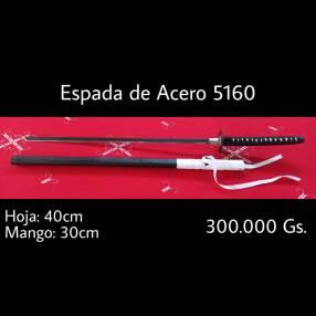 Espada de acero 5160 por pedido