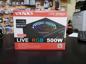 Fuente real Sate 500W Pro-590 luz rgb