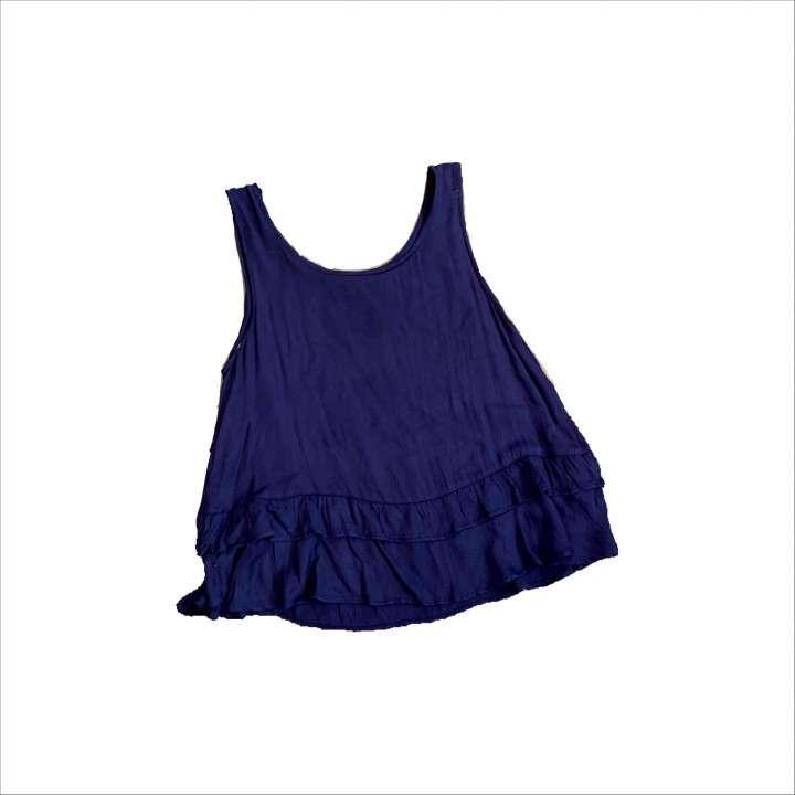 Blusa azul marino talle 16 - 0