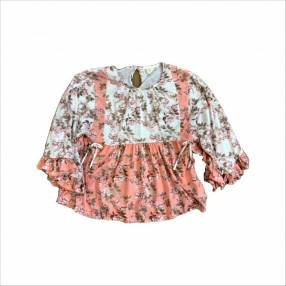 Blusa marrón y rosa Zara kids talle 13/14