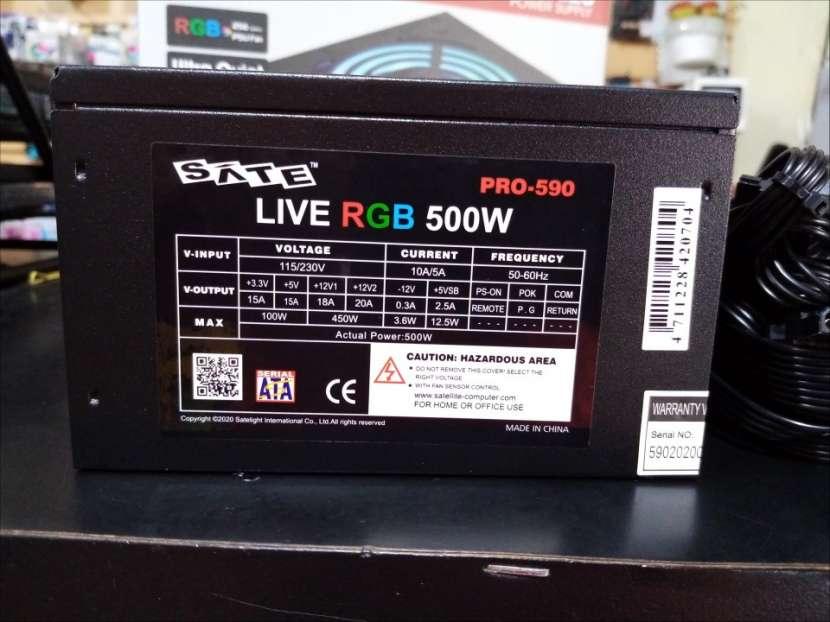 Fuente real Sate 500W Pro-590 luz rgb - 3