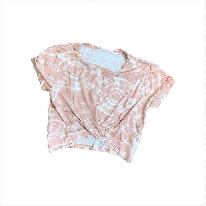 Remera Tie Dye Rosa Hering talle M - 0