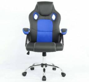 Silla gamer azul negro 100 Kg (Y2706B)