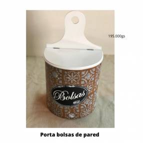 Porta bolsas de pared