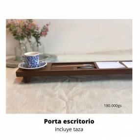 Porta escritorio de madera