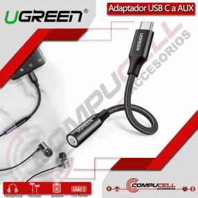 Adaptador USB Tipo-C a Auxiliar 3.5mm UGREEN