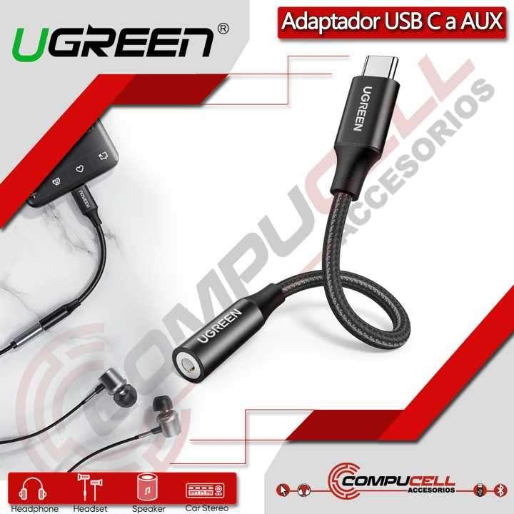 Adaptador USB Tipo-C a Auxiliar 3.5mm UGREEN - 0