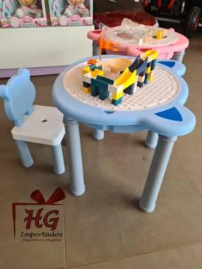 Silla con mesa rompecabezas arenero mesa escritorio