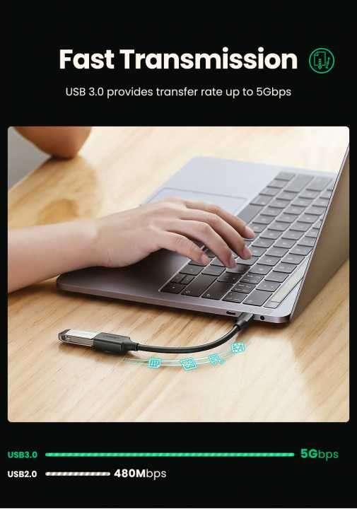Adaptador USB Tipo-C a USB 3.0 UGREEN - 1