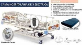 Camilla articulable de 3 posiciones eléctrica con colchón de base