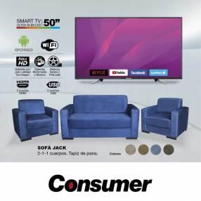 TV LED + Sofá conjunto