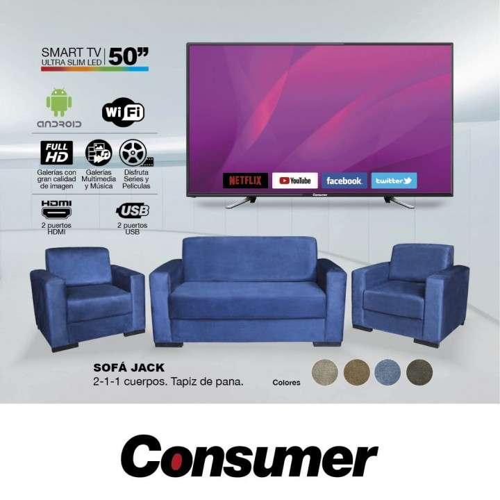 TV LED + Sofá conjunto - 0