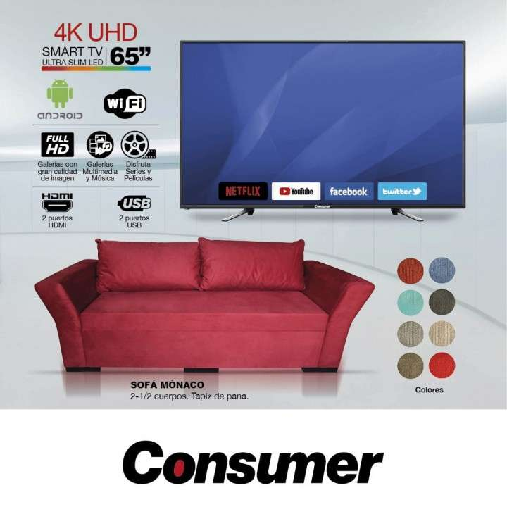 Smart TV + Sofá conjunto - 0