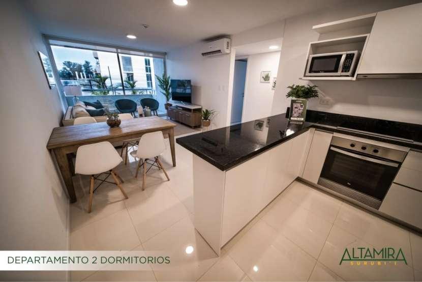 Departamento 2 dormitorios planta baja con patio 100 m2 - 1
