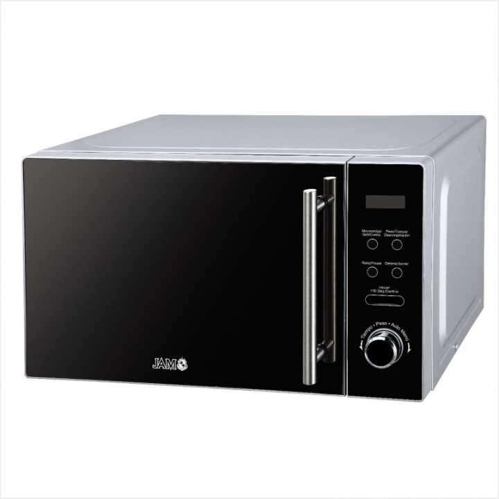 Microondas Jam 20 litros panel digital espejado inox