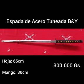 Espada de acero tuneada B&Y