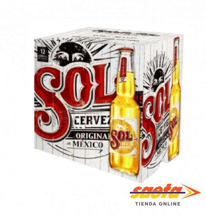 Cerveza Sol 650cc 12 unidades - 0
