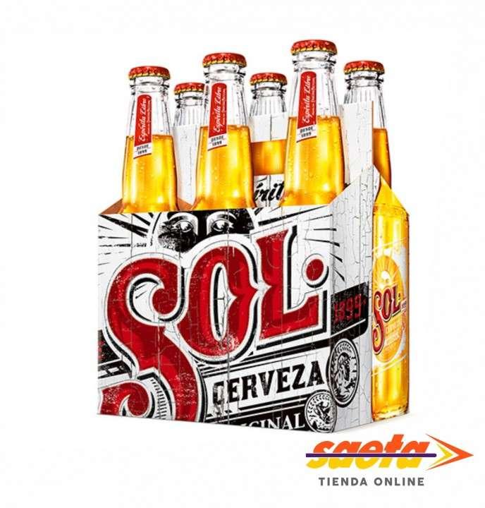 Cerveza Sol 330cc pack de 6 unidades - 0