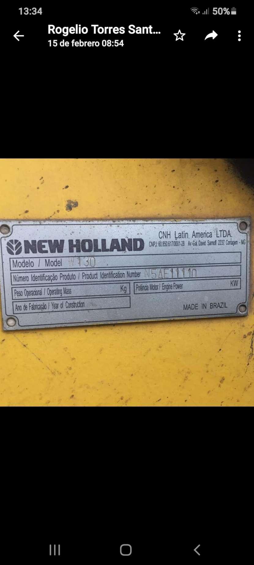 Pala cargadora New Holland W130 - 4