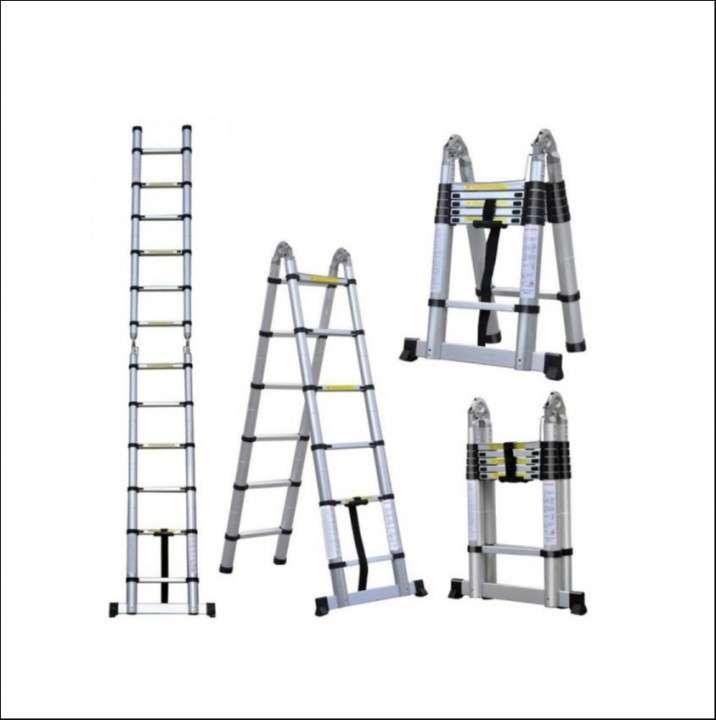 Escalera telescópica 3 en 1 de 3,70 cm - 0