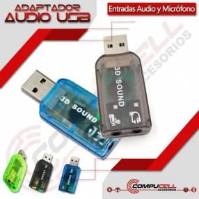Adaptador USB para audio y micrófono tarjeta de sonido USB