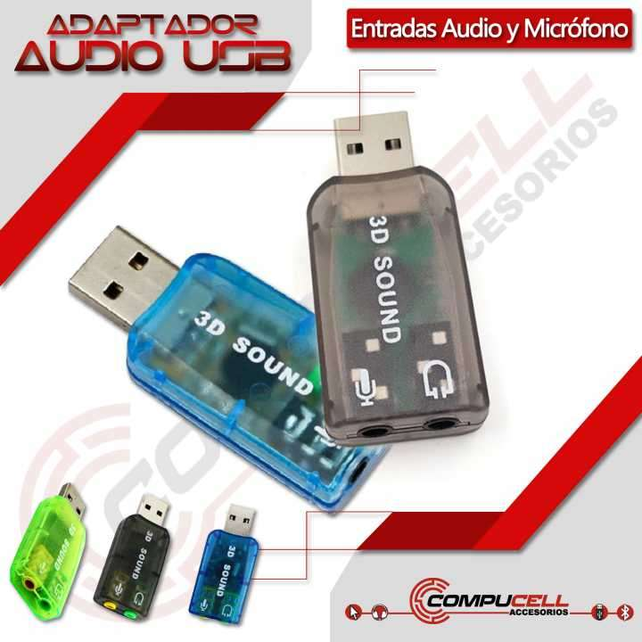 Adaptador USB para audio y micrófono tarjeta de sonido USB - 0